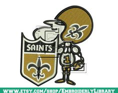 Football Embroidery Designs (new orleans saints) 4x4 - Instant Download