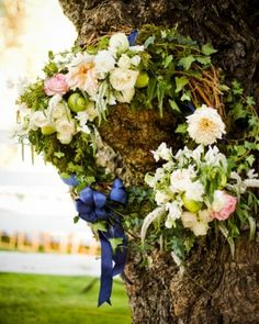 """See the """"Floral Wreath"""" in our A Blue Formal Outdoor Wedding in California gallery"""