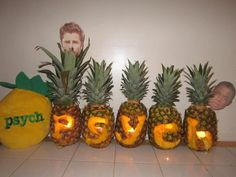 Psych pineapple challenge- rewatch all of the Psych episodes throughout the seasons and count how many pineapples you see!