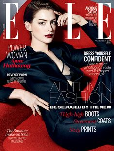 Anne Hathaway photographed by Kai Z Feng for Elle UK, November, 2014. Hair by Jenny Cho. Manicure by Alicia Torello.