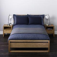 Buy John Lewis Stonewash Stripe Duvet Covers, Dark Blue online at JohnLewis.com - John Lewis
