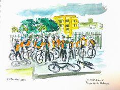 Ciclistas en el Parque de las Rehoyas