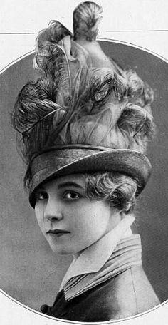 Jeanne Lanvin - Chapeau à Plumes - 1914