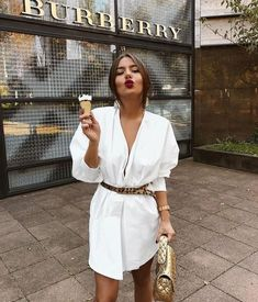 In A Search For A Perfect White Dress For Summer - Fashion - Summer Dress Outfits Street Style Outfits, Looks Street Style, Mode Outfits, Fashion Outfits, Womens Fashion, Fashion Tips, Fashion Ideas, Dress Fashion, Fashion Capsule