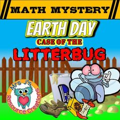 Free: This Earth Dat send your students on a math mystery to save Mathattan from a Litter bug destroying the city. Great for a math review while still being fun and exciting for the kids.This optional video hook is designed to engage your students and motivate them to locate the yucky Litterbug who is ruining the environment.