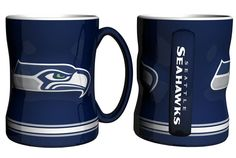 Seattle Seahawks Coffee Mug - 14oz Sculpted Relief