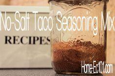 No-Salt Taco Seasoning
