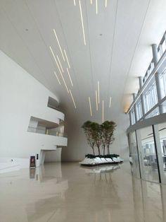 Heydar Aliyev Cultural Center, Baku, Azerbaijan The lighting is made with custom-made 094 system from Viabizzuno
