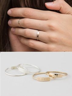 Zierliche Bar Ring / personalisierte Ring (oder leer) / Stacking Ring / Custom…