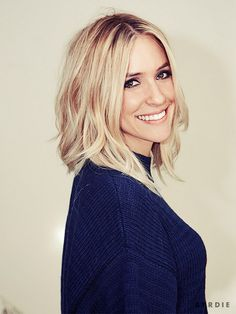 "Cavallari left the salon loving her new, bright blonde bob and the fact that it was still long enough to throw into a ponytail. ""With kids you have to be able to throw it..."