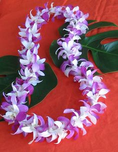 lei- these flowers smell soo good!