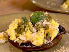 "Grilled Portobello ""Benedict"" recipe from Ellie Krieger via Food Network"