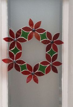 Red Glass Wreath