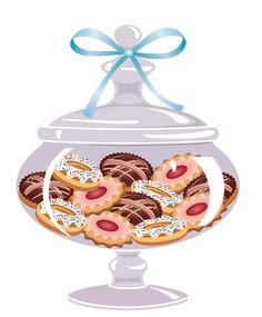 """Photo from album """"Печенье"""" on Yandex. Illustration Dessert, Food Clipart, Chibi Food, Cupcake Art, Christmas Labels, Creative Pictures, Food Drawing, Candy Shop, Candy Jars"""