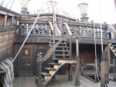 """On deck""""The Neptune"""" Genova, Italy. Made for the 1986 Movie; """"Pirates"""""""