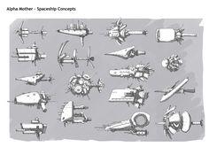 Portfolio Spaceships by DarkMechanic on DeviantArt