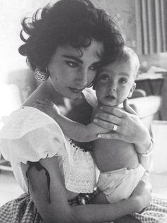 Elizabeth Taylor & her son