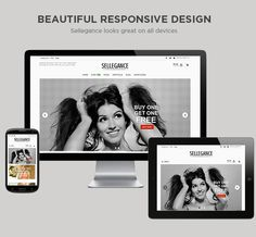 Sellegance is a #responsive, elegant and easy to install #WordPress theme