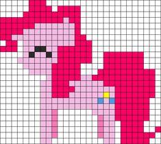 Pinkie Pie My Little Pony perler bead pattern