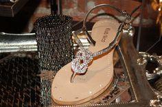 Diamond Sandal w. Stretch Diamond Cuff