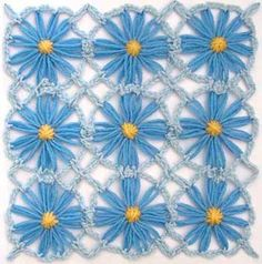 Flower Looms: Simple Crochet Edging & Join With Picots