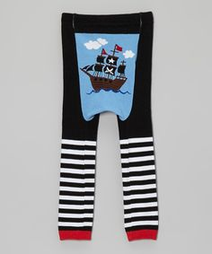Another great find on #zulily! Blue & White Pirate Ship Leggings - Infant by Doodle Pants #zulilyfinds