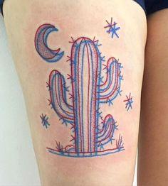 3d cactus tattoo - Google Search
