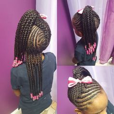 75 Easy Braids for Kids (with Tutorial) Lil Girl Hairstyles, Girls Natural Hairstyles, Natural Hairstyles For Kids, Kids Braided Hairstyles, Natural Hair Styles, Long Hairstyles, Layered Hairstyles, Short Haircuts, Toddler Hairstyles