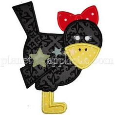 Girly Crow Applique