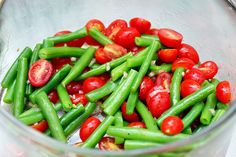 Green Bean and Tomato Salad by Smitten Kitchen. So, yeah, I'm really excited about green beans. Mmm. Green beans.