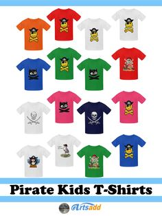#Artsadd has #Pirate Tee Shirts for the little Scallywags designed by #Gravityx9…