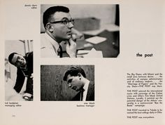 """Athena yearbook, 1963. """"The Post was everywhere."""" :: Ohio University Archives"""