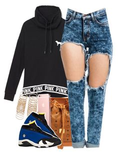 """Untitled #741"" by cjasmyne ❤ liked on Polyvore featuring Victoria's Secret PINK, MCM, Forever 21 and LOTTA"