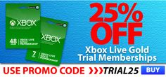 Great deal on 48 Hour Xbox Live trial codes #xboxlive