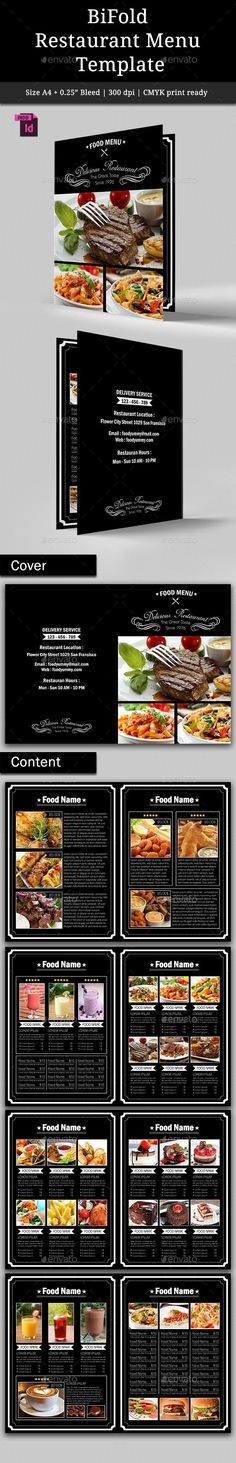 BiFold Restaurant Menu Template #design Download: http://graphicriver.net/item/bifold-restaurant-menu-vol-2/9309042?ref=ksioks