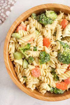 Vegan Ranch Pasta Salad - easy vegan side dish recipe