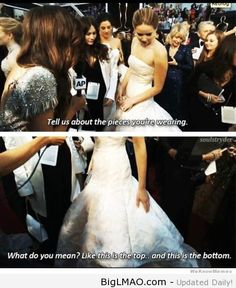 Jennifer Lawrence Is Asked About Her Dress