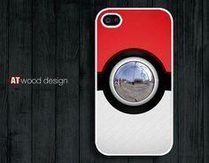 Pokemon Pokeball design unique iphone 4 case iphone 4s case iphone 4 cover
