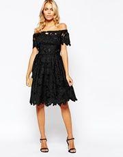 Little Mistress | Little Mistress Sequin Midi Dress With Tulle Skirt at ASOS