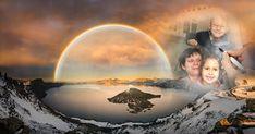 Crater Lake with double rainbow and lightning bolt by Freebilly - Spectacular Lakes Photo Contest Stunning Photography, Night Photography, Banff National Park, National Parks, Landscape Photos, Landscape Photography, Sunset Hours, Lake Photos, Crater Lake