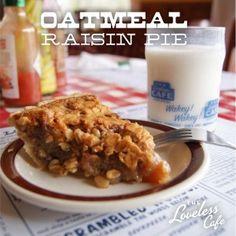 Oatmeal Raisin Pie from the Loveless Cafe