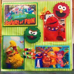 Sesame Street Scrapbook page 1