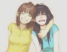 anime bffs one happy one not happy - Google Search