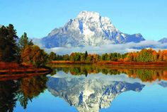 Grand Tetons (Wyoming): These mountains show the effects of a single Ice Age on this uplifted area. The earth's uplifting and the Ice Age are both the results of the Flood.