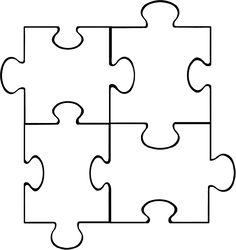 PUZZLE piece template - Google Search                                                                                                                                                                                 Más