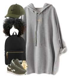 """"" by livelifefreelyy ❤ liked on Polyvore featuring Herschel Supply Co., Movado, Reebok, NIKE and Jennifer Meyer Jewelry"