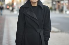 Hussein Chalayan coat...An Unknown Quantity | New York Fashion Street Style | ストリートスナップ