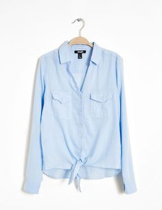 chemise en coton bleu clair - http://www.jennyfer.com/fr-fr/collection/chemises/chemise-en-coton-bleu-clair-10009507016.html