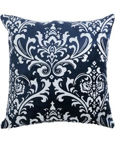 Rose Street Damask Navy Velvet 18 In. Navy Pillows, Velvet Pillows, Rose Street, Damask, Decorative Throw Pillows, Accent Decor, Pillow Covers, Home Goods, Tapestry