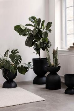As a grand gesture to your home and plants, the Hourglass Pot gives your plants an elevated stand and roomy container in which to spread their roots. You can use the pot both ways according to the plant's needs, and no matter which way you turn it you are sure to make a voluminous statement. The pots are made of metal with a matte finish and have been treated to be suitable for outdoor use. Modern Planters, Pot Designs, Furniture Design, Danish Design, Indoor, Aesthetic Wallpapers, Aesthetic Rooms, Danish Furniture Design, Ferm Living